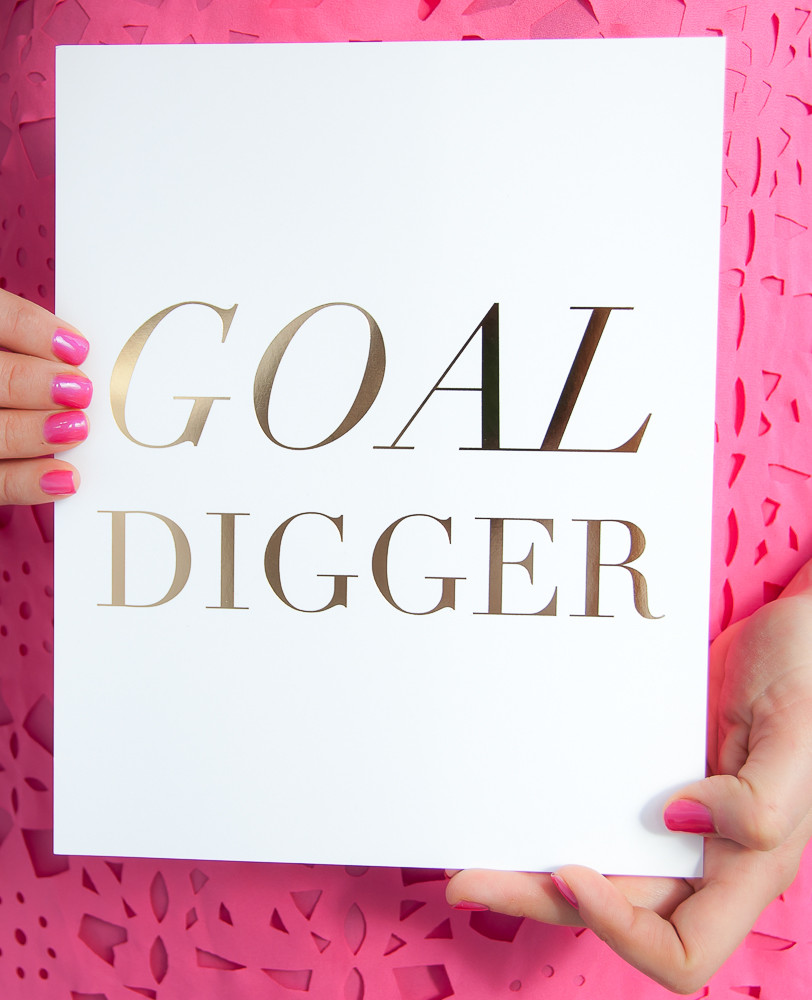 Are you a GOLD DIGGER OR GOAL DIGGER?